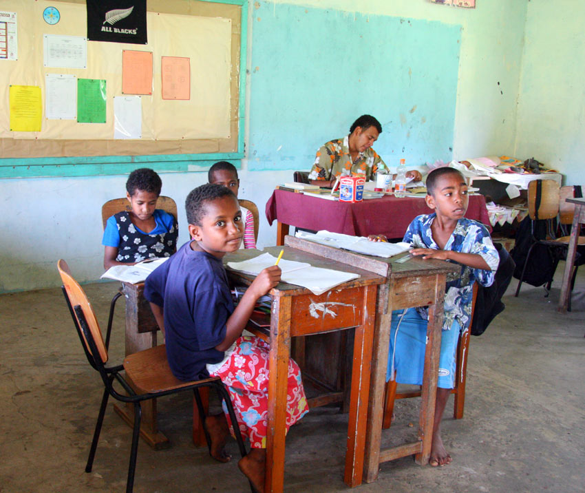 School children in Fiji