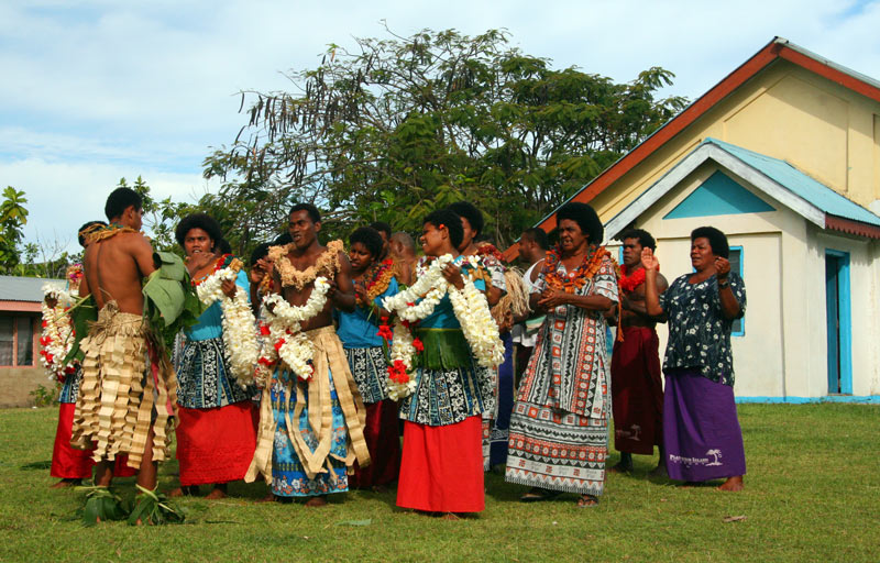 Fiji dancers in the Yasawa Islands