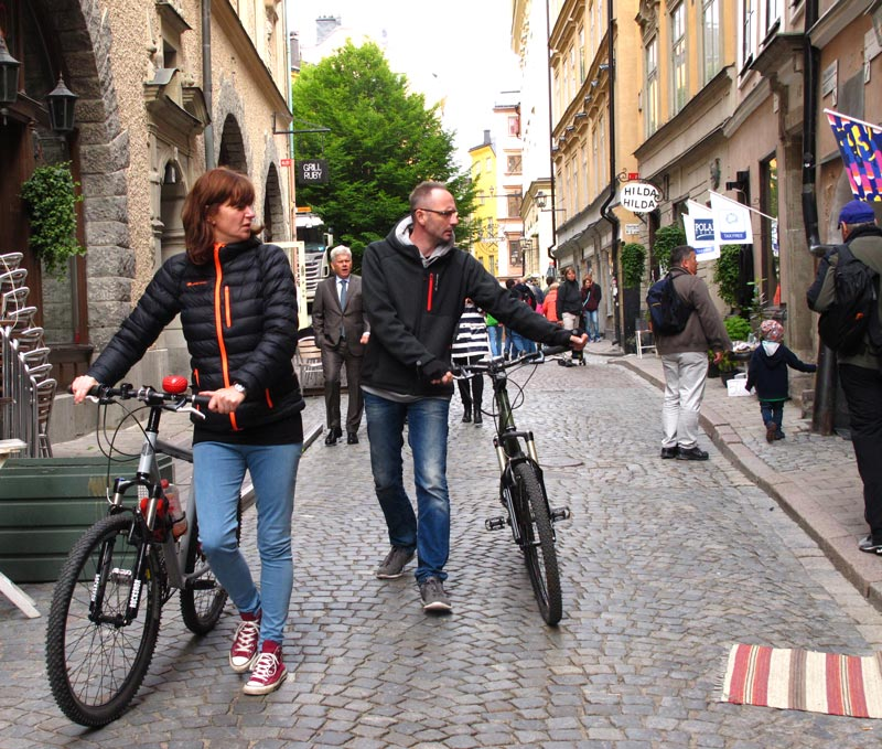 Bicycling in Stockholm