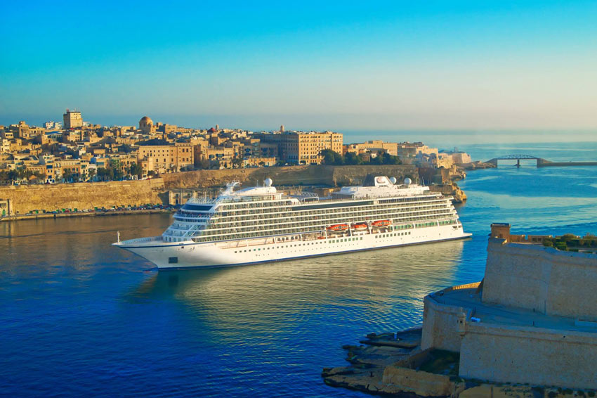A Viking Ocean Cruises ship in Malta