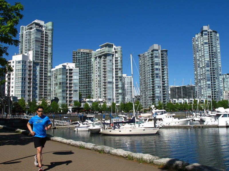 Yaletown is a fun place to bicycle in Vancouver