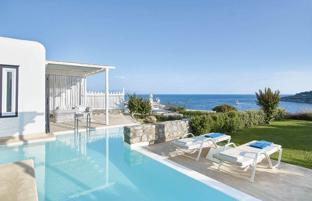 Maybe book a room with a private pool at Mykonos Bu?