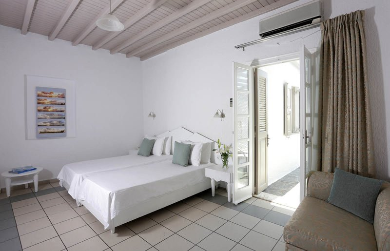 A room at the Mykonos Palace Beach Hotel