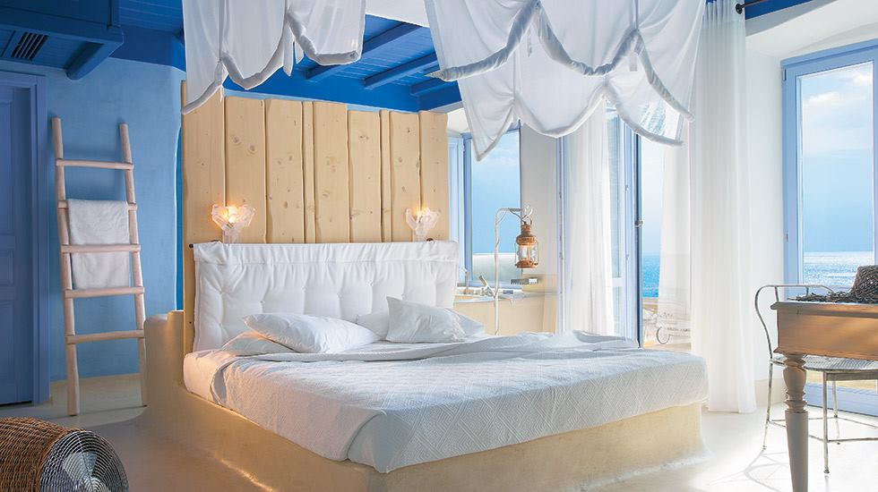 A room at the Grecotel Mykonos Blue Hotel