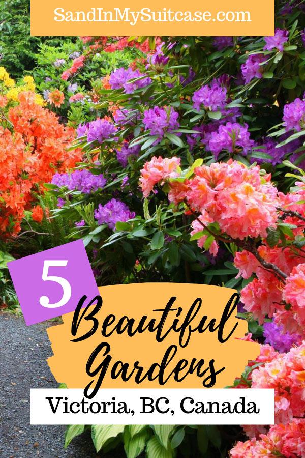 Beautiful Victoria BC gardens