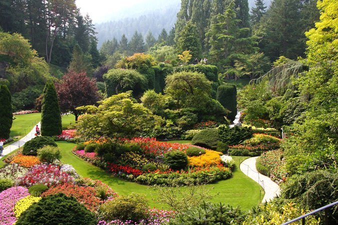 One of the most beautiful gardens in the world, Butchart Gardens receives one million visitors a year