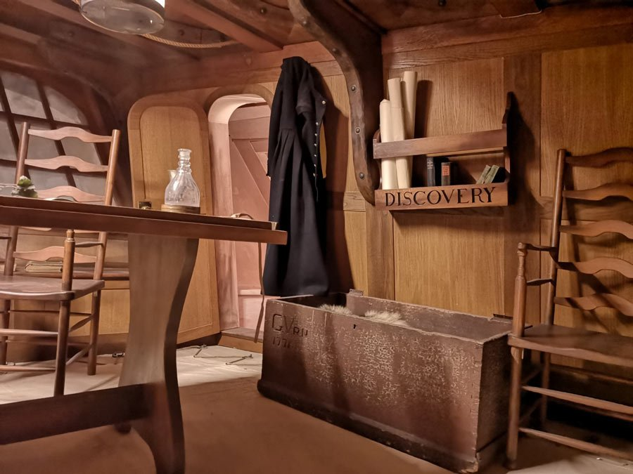 See inside a replica of Captain Vancouver's ship