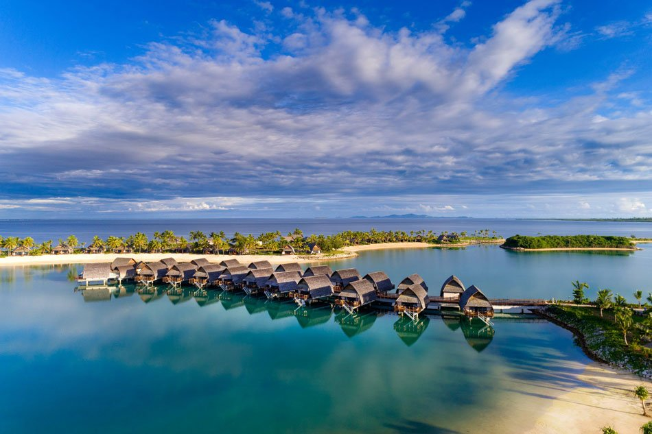 Touch down from your international flight, and you can pretty quickly be in one of these Fiji overwater bungalows