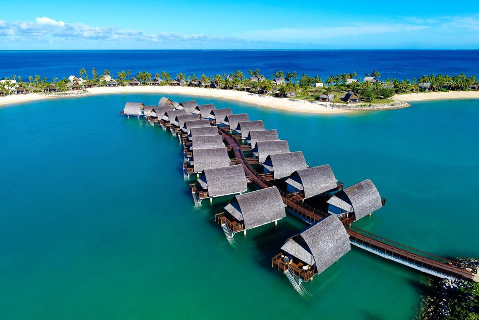 Okay, so there's no fish to see, but the Marriott's bungalows on the water in Fiji still look appealing, don't they?