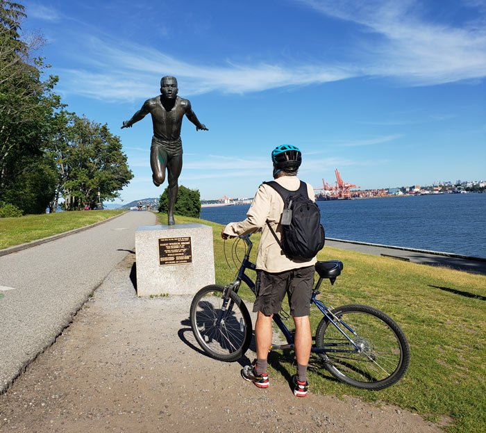 Harry Jerome statue in Stanley Park