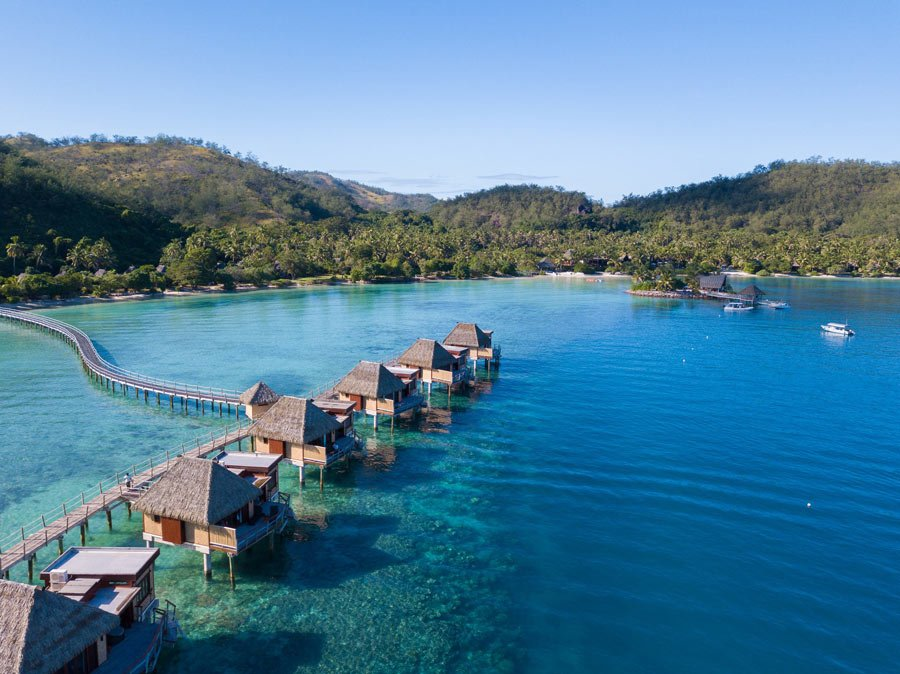 Overwater bungalows in Fiji (like these at Likuliku Lagoon Resort) offer a special stay