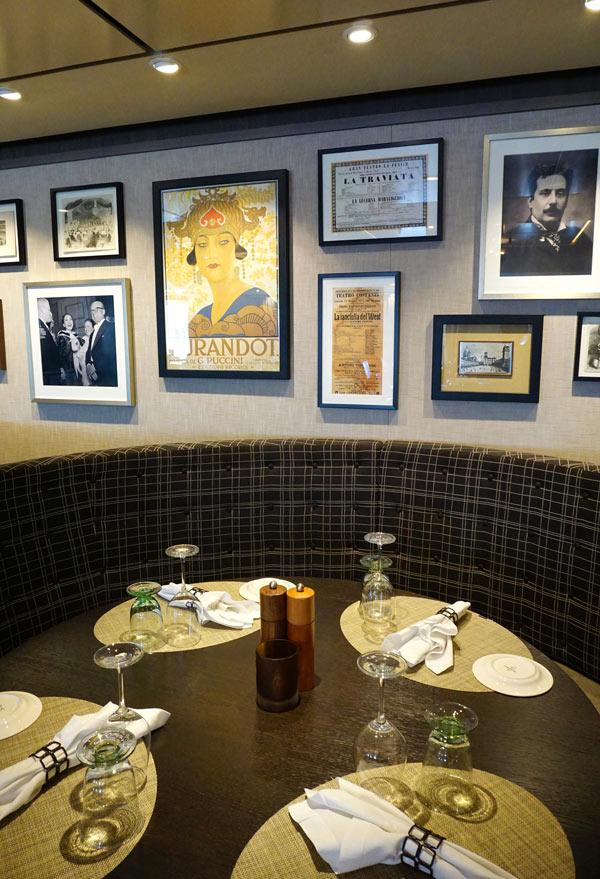 We love dining in the Italian Manfredi's restaurant