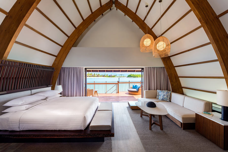 The Marriott's overwater villas in Fiji are cocoons of serenity
