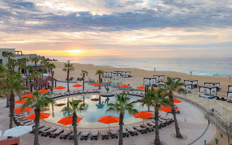 For a romantic, couples-only escape, check out the the Pueblo Bonito Pacific all-inclusive resort in Cabo.