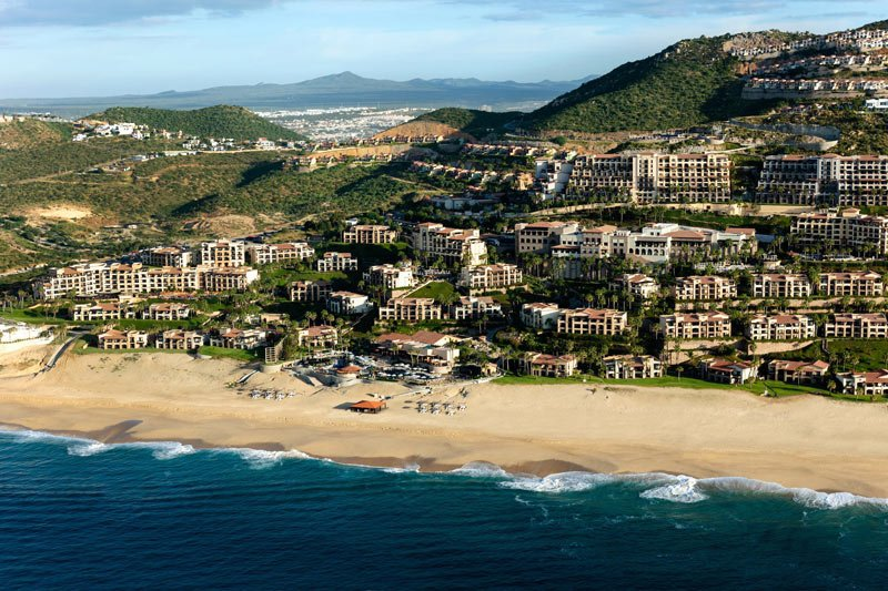 The Pueblo Bonito Sunset Beach Golf and Spa Resort sprawls out on ocean-front property on the Pacific side of the Baja Peninsula