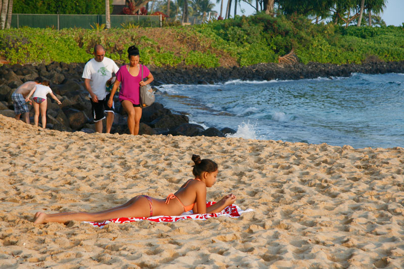 Poipu Beach is the most popular beach on Kauai's south shore