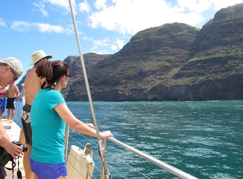 Na Pali Coast boat tours are a popular Kauai activity