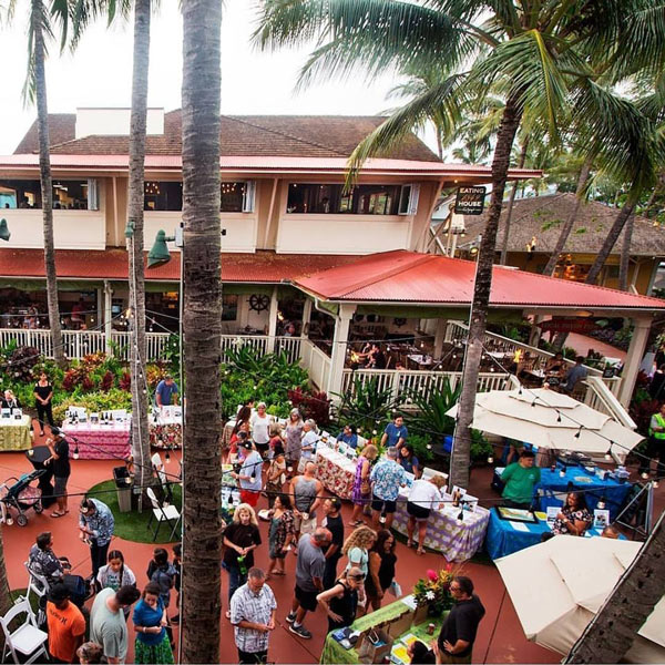 The shops at Kukui'ula are popular for shopping in Kauai
