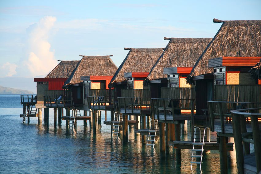 Overwater bungalows in Fiji at Likuliku Lagoon Resort