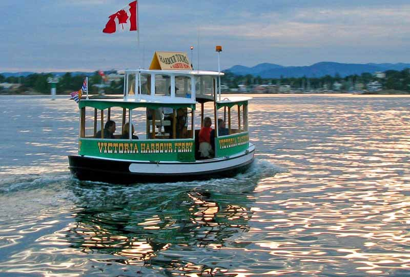 These cute little Victoria Harbor ferries cross the Inner Harbor waterways