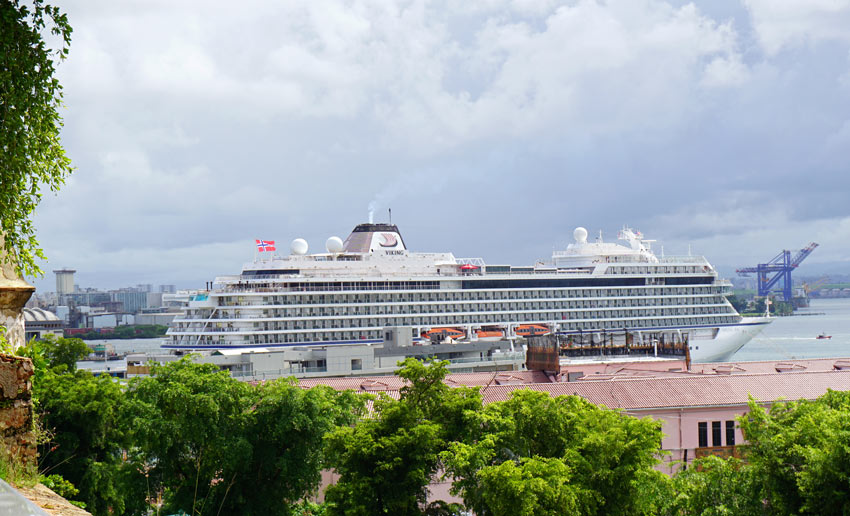 Viking Sea Review: The Viking Sea in Old San Juan, Puerto Rico