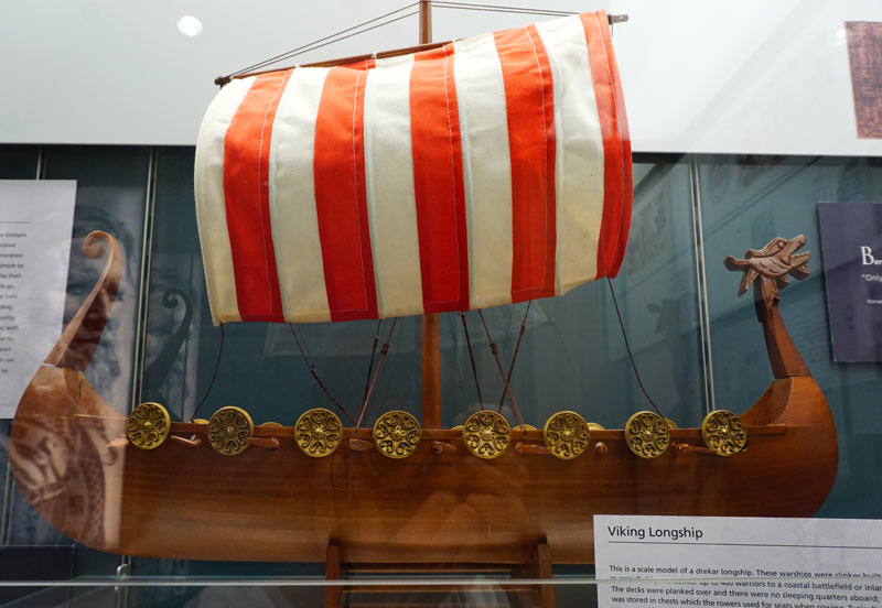 The ship pays homage to the Viking longships of old with a mini-museum display of Viking memorabilia