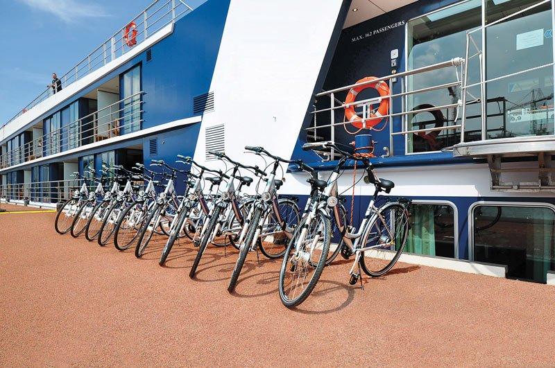 Bicycles for use on AmaBella, AmaWaterways