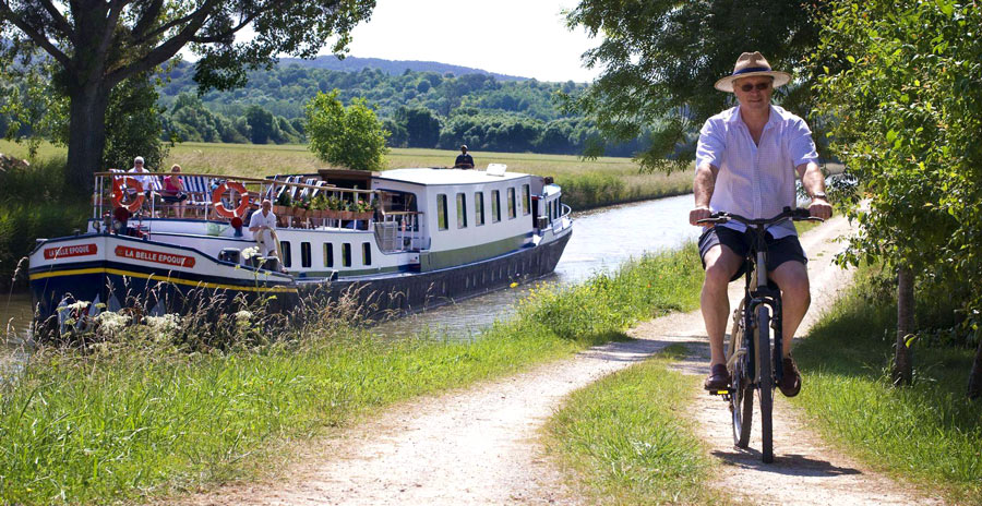 Bike-and-barge cruises: The towpaths running alongside the canals are ideal for easy biking and walking forays
