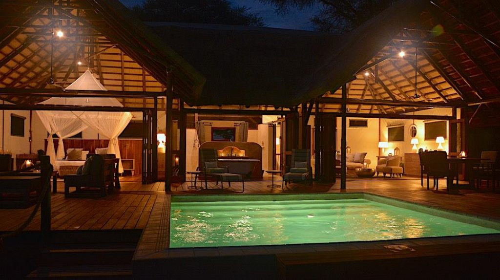 You won't lack for comfort at Chiawa Camp's new Safari Suite!