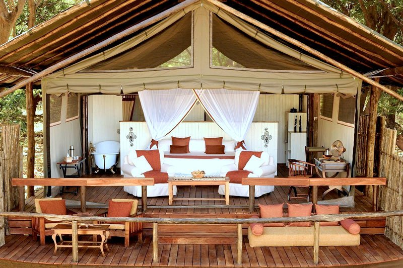 Chiawa is one of the most deluxe of the Lower Zambezi National Park lodges