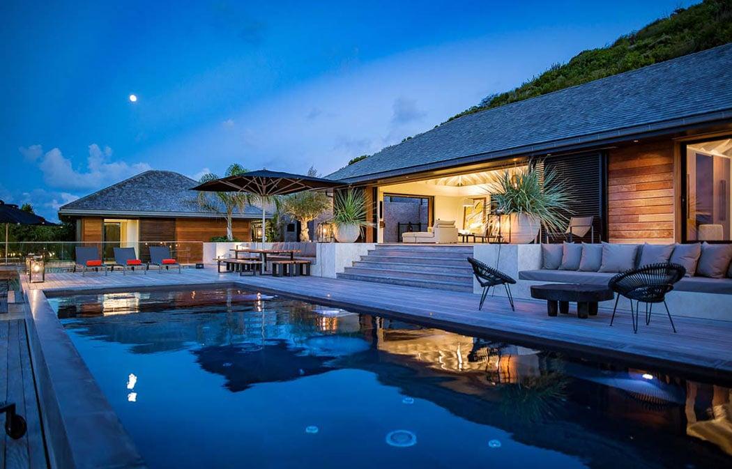 Eden Rock's 6-bedroom Blackstone villa is sophisticated and mod.