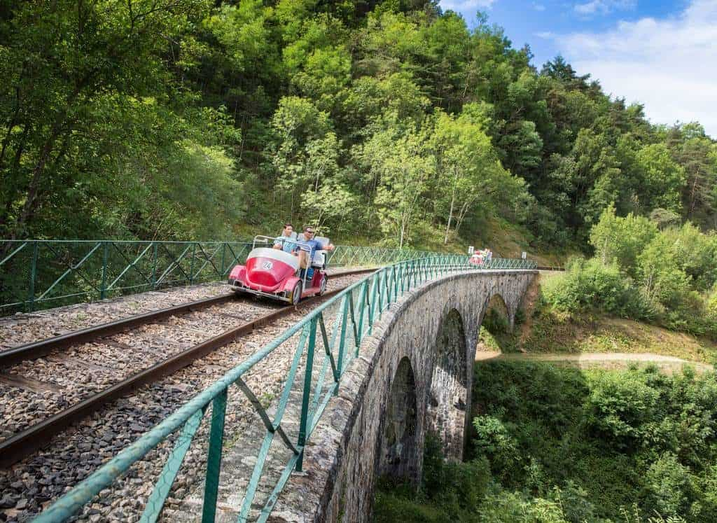 Gorges de Doux railway in France