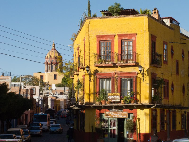 Yellow, red, ochre, pink -- San Miguel de Allende's buildings are so bright and colorful!