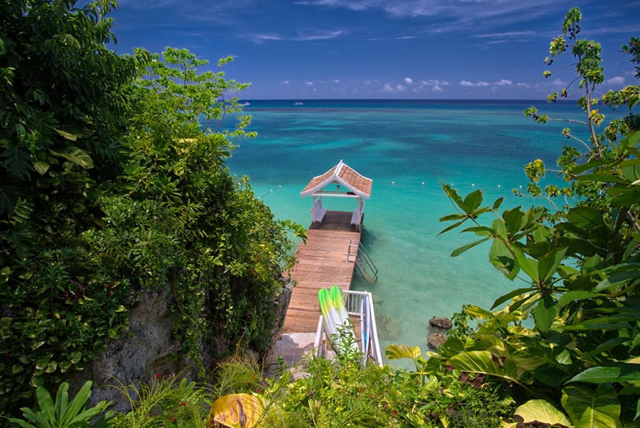 This Jamaica villa has its own private pier for swimming in the sea