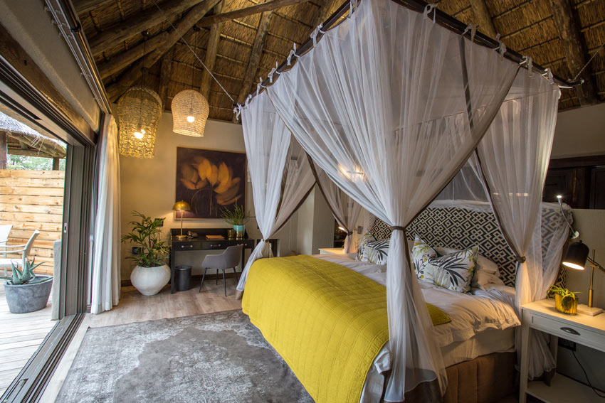 Simbambili Game Lodge is set along Manyeleti River in the Sabi Sands reserve, which  borders Kruger National Park.