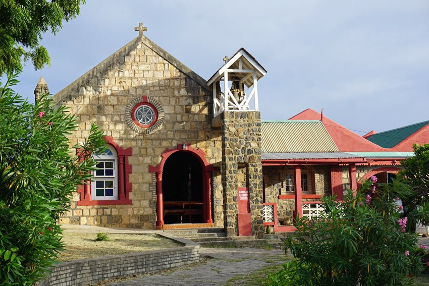 The Catholic stone church on Mayreau was built in 1917