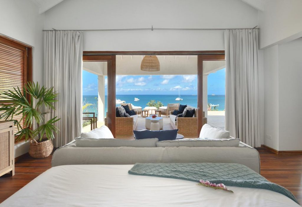 Each TRIBU bedroom pavilion is individually decorated, but they all have sea views