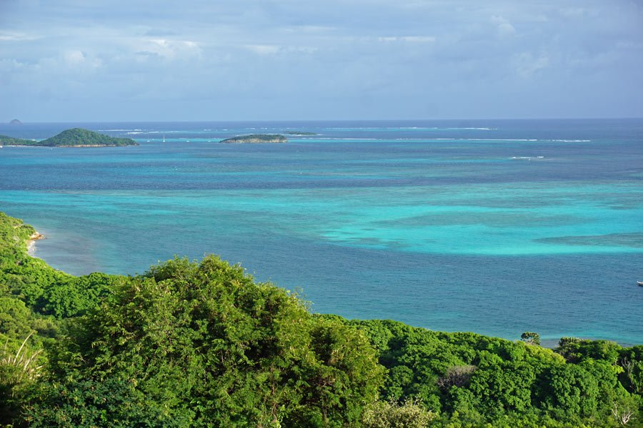 The Grenadine Islands have the loveliest blue waters