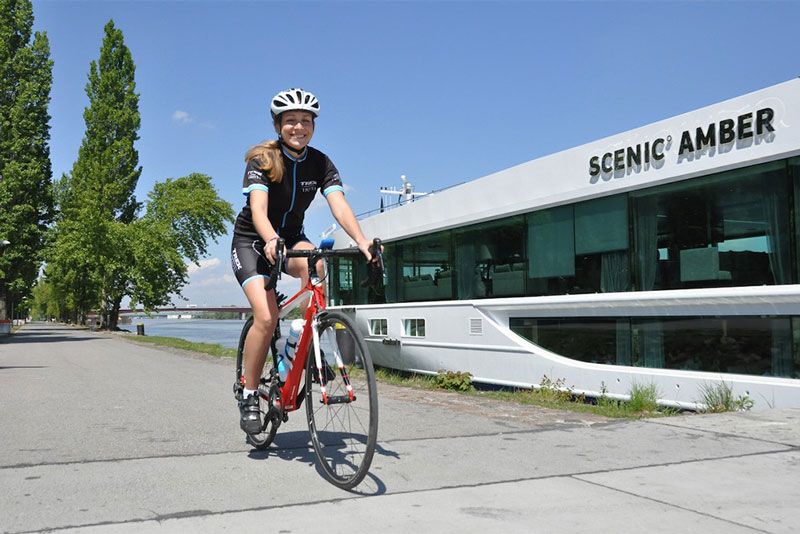 On Scenic's bike-and-boat river cruises, a dedicated cycling specialist from Trek Travel  leads your rides.