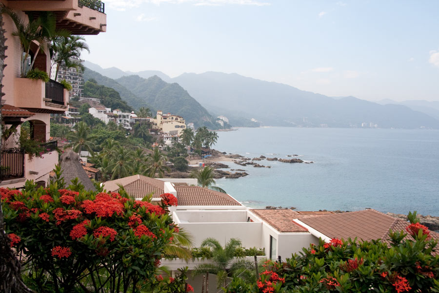 View of Banderas Bay from Quinta Maria Cortez