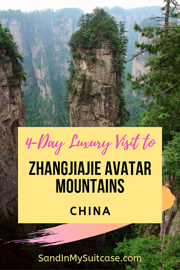 Visiting the Avatar Mountains, Zhangjiajie. in luxury