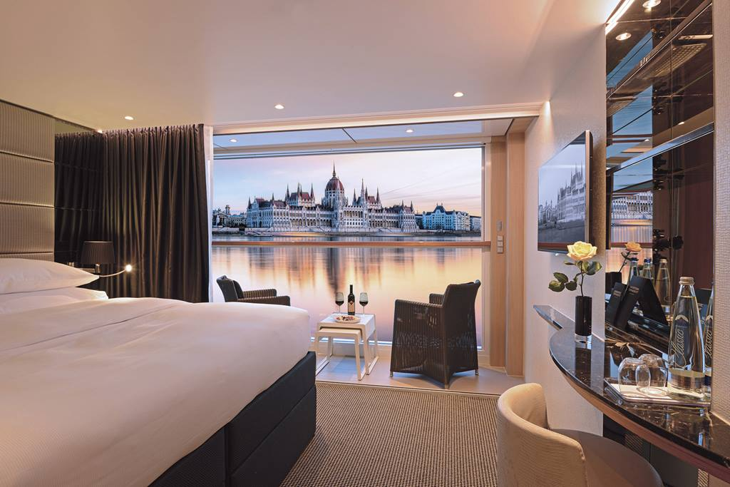 The suites are well-designed on Scenic's river ships.