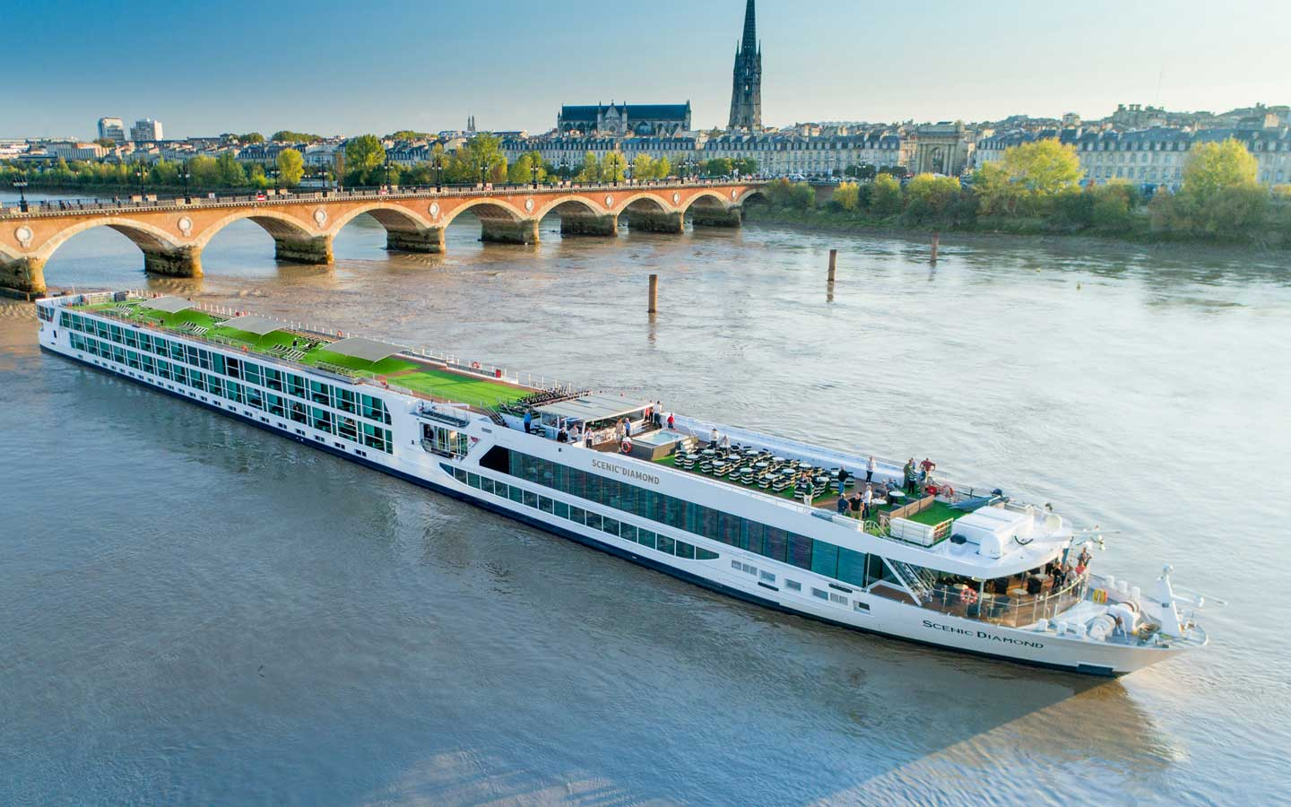 Scenic offers some of the most luxurious river cruises; their river ships are sleek and modern.