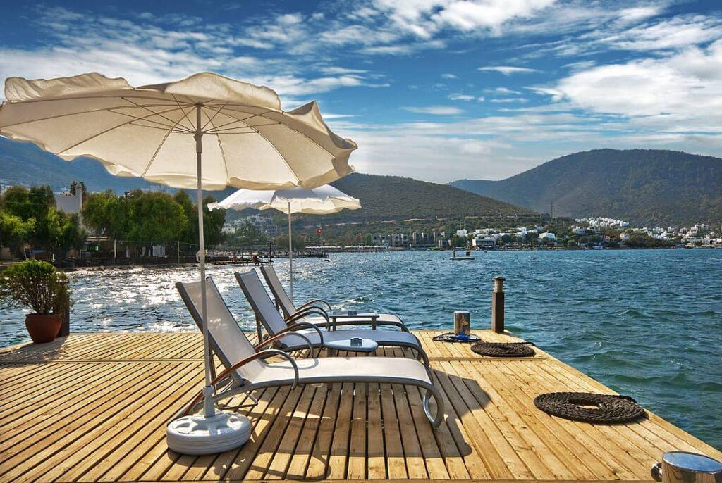 A luxury hotel in Bodrum, Casa Dell'Arte boasts a lovely seaside location