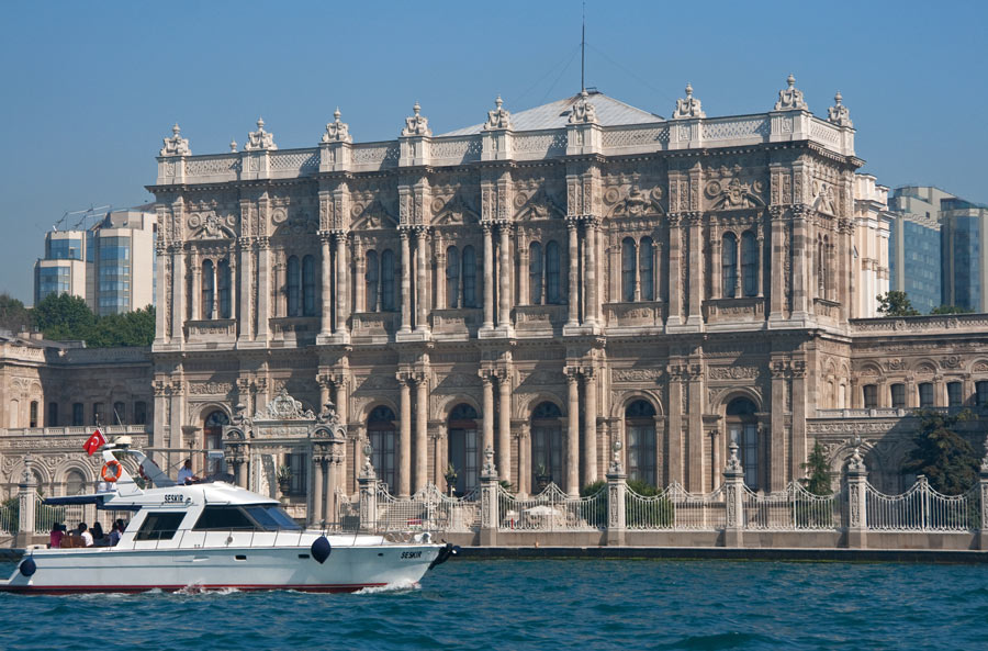 The Dolmabahce Palace is just one of many grand palaces you can see in Istanbul