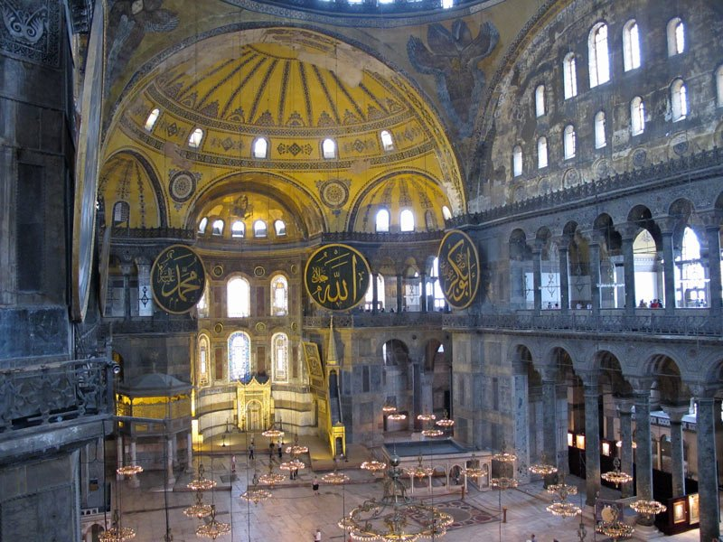 Once a church, then a mosque, the Hagia Sophia is now a museum
