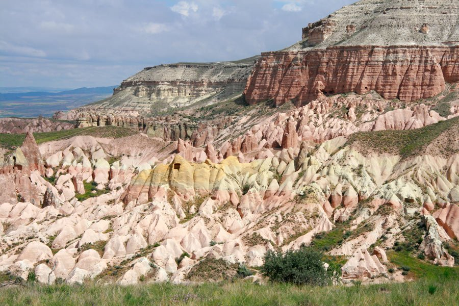 The Rose Valley gets its name from the color of the unique rock formations