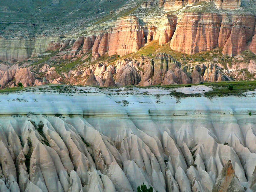 Cappadocia's Rose Valley gets its name from the rose-colored rock