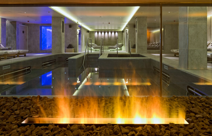 Use of the hot and cold pools in the thermal spa is complimentary on Viking Ocean Cruises