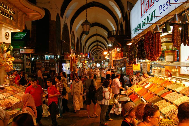 Not the Grand Bazaar - the Spice Bazaar is all about spices